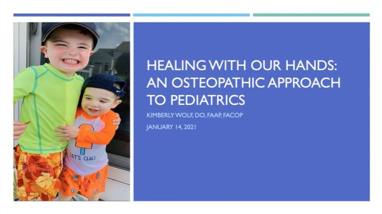 Picture from Healing with our Hands: An Osteopathic Approach to Pediatrics video
