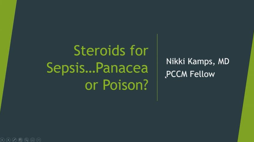 Picture from Steroids for Sepsis...Panacea or Poison? video