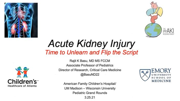 Picture from Department of Pediatrics Grand Rounds video