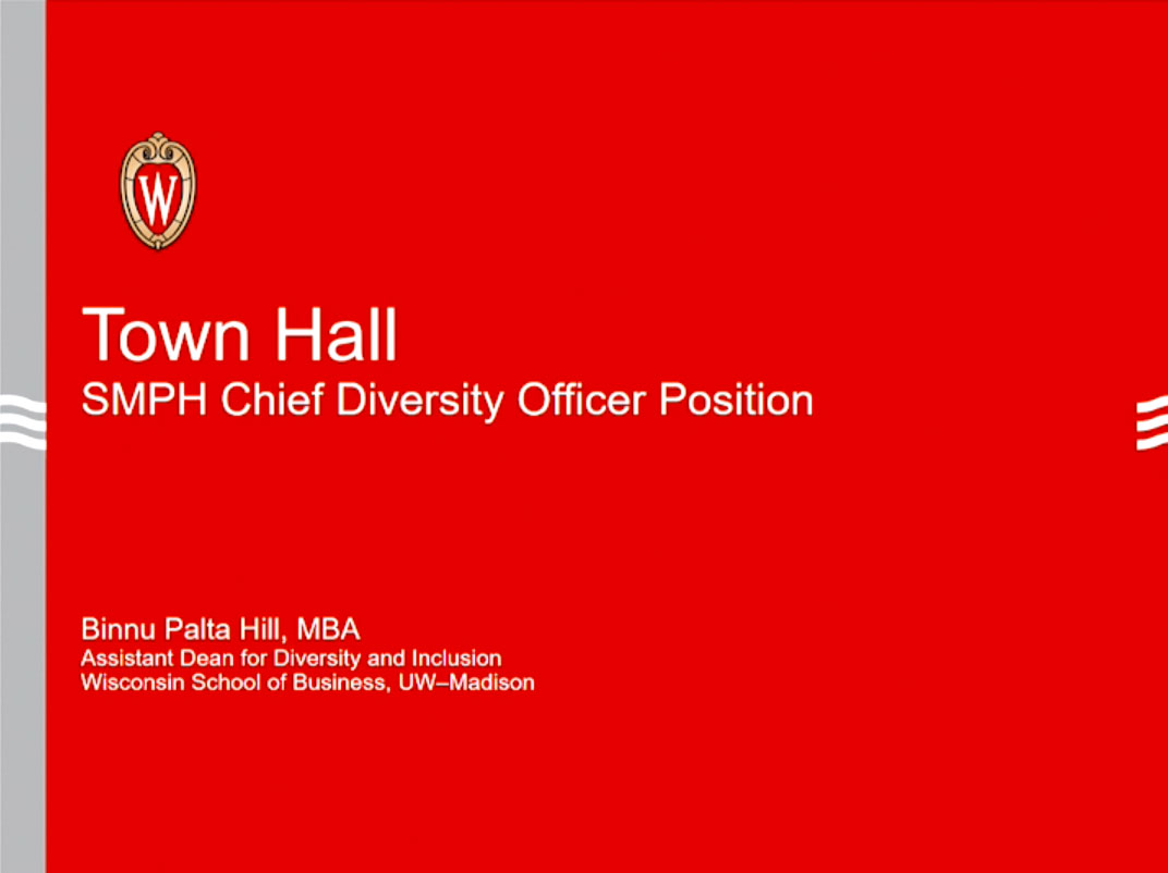 Picture from Chief Diversity and Inclusion Officer Town Hall video