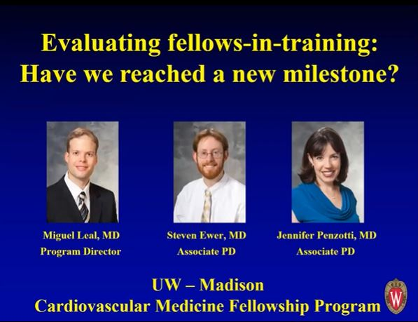 Picture from Evaluating Fellows-in-training: Have We Reached a New Milestone? video