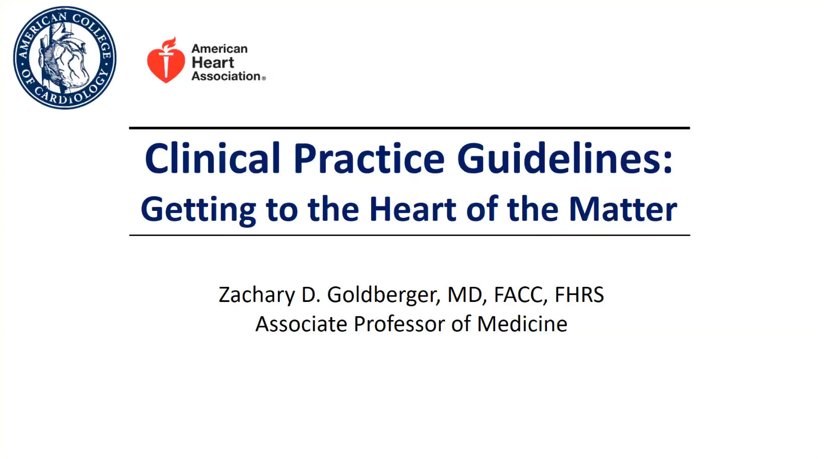 Picture from Clinical Practice Guidelines video