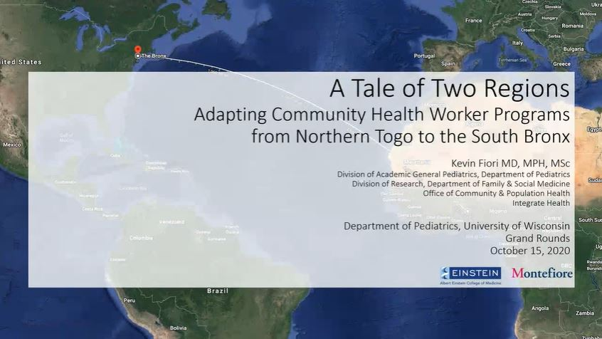 Picture from A Tale of Two Regions: Adapting Community Health Worker Programs from Northern Togo to the South Bronx video