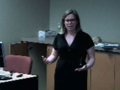 Picture from Guest Lecture - Dr. Claire Ankuda video
