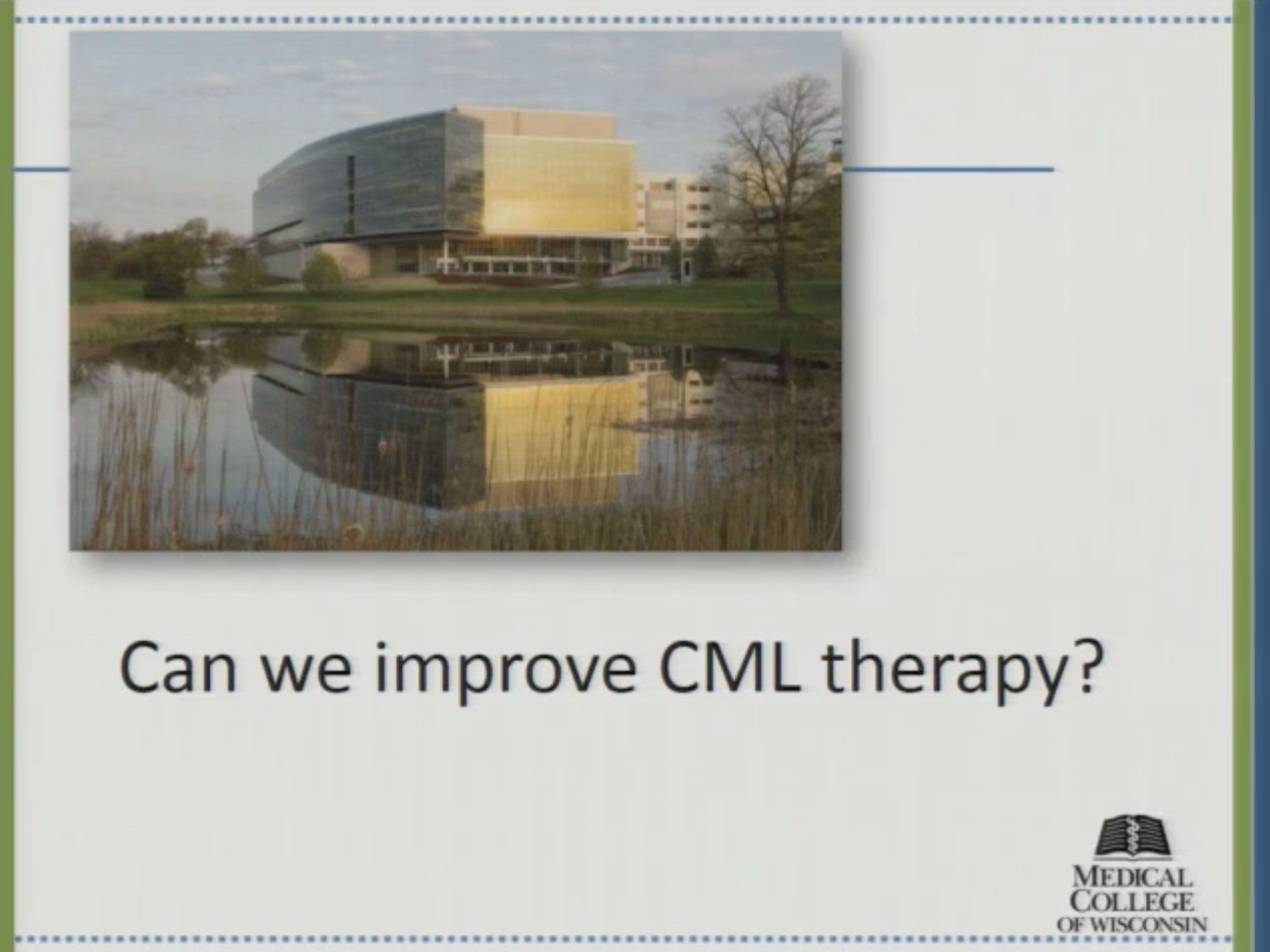Picture from Can We Improve CML Therapy? video