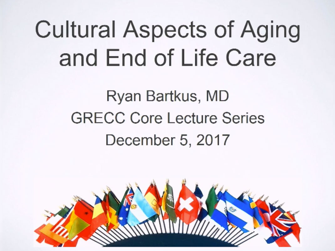 Picture from Geriatrics Core Lecture: Cultural Aspects of Aging video