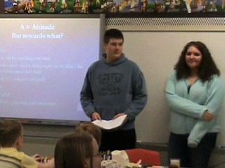 Picture from Sample Presentation with High School Students Presenting. video