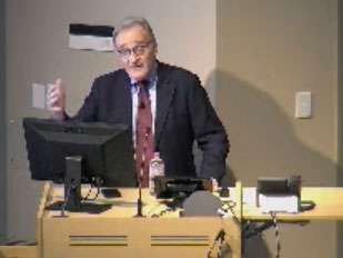 Picture from Cancer Center Grand Rounds video