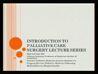 Picture from Introduction to Palliative Care: Surgery Lecture Series video