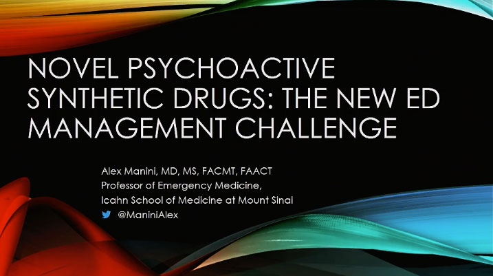 Picture from Novel Psychoactive Substances, Alex Manini, MD