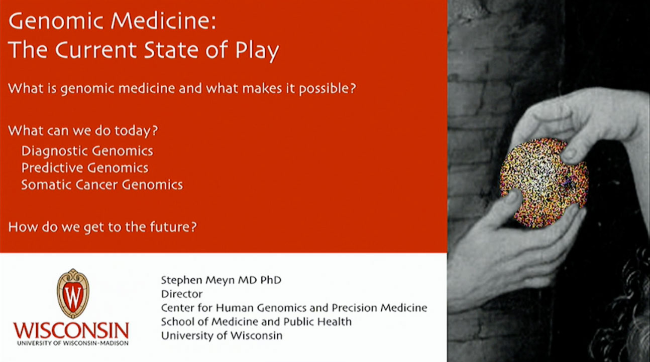 Picture from Genomic Medicine: The Current State of Play video