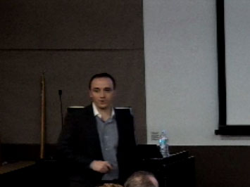 Picture from Neuroscience Faculty Candidate Talk video