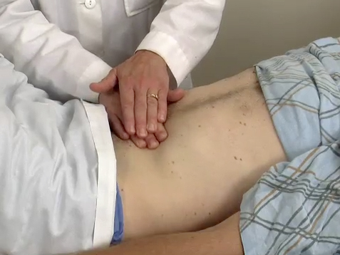 Picture from Physical Exam: Abdominal Exam video