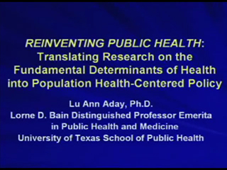 Picture from Reinventing Public Health: Translating Research on the Fundamental Determinants of Health into Population Health-Centered Policy video
