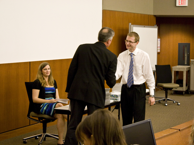 Picture from Medical Student Honors and Awards 2011 video