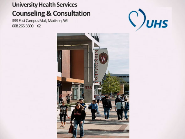 Picture from University Health Services Counseling & Consultation video