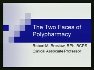 Picture from Geriatric Workshops - The Two Faces of Polypharmacy video