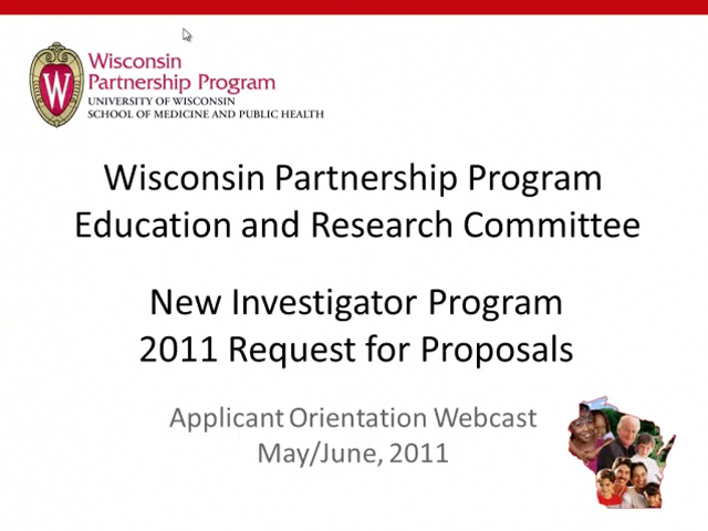 Picture from Wisconsin Partnership Program Education and Research Committee New Investor Program 2011 Request for Proposals video