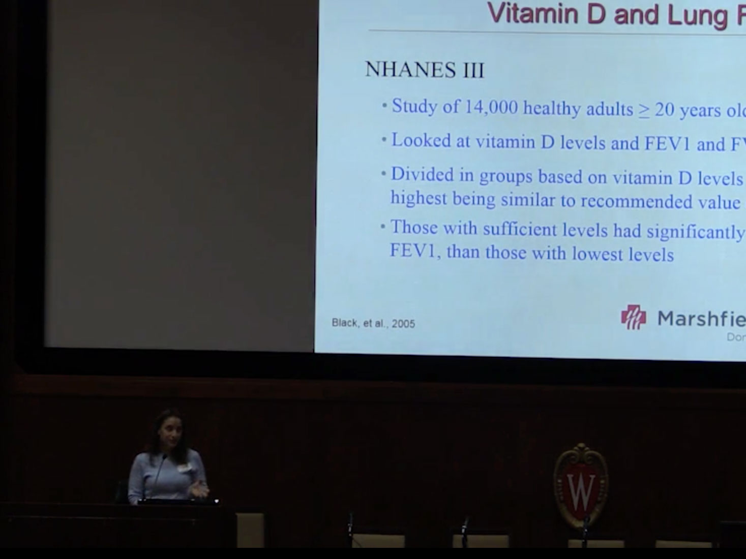 Picture from Vitamin D and Lung Function in Children with CF video