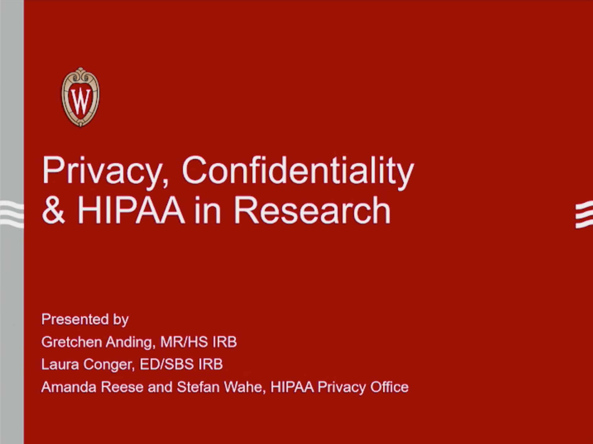 Picture from Privacy, Confidentiality, and HIPAA in Practice video