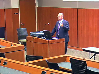 Picture from Pathology Chair Candidate Town Hall Meeting: Dr. David Engman video