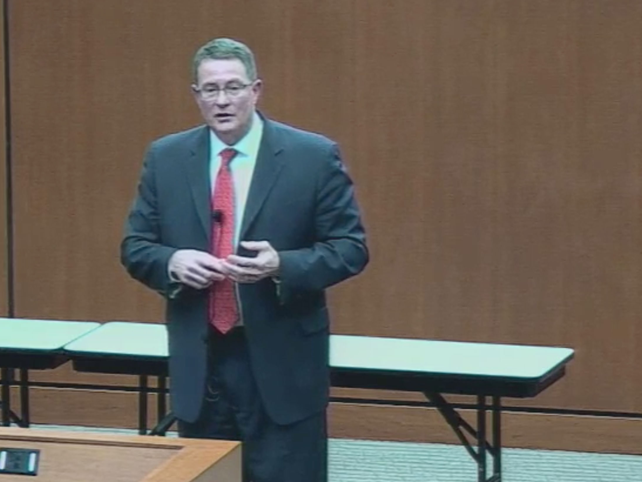 Picture from Dr. Fraker Town Hall video