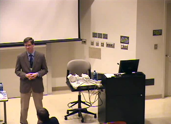 Picture from Friedl Town Hall Meeting video