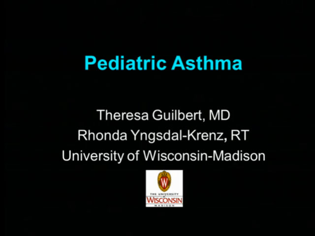 Picture from UW PPC Tutorial: Pediatric Asthma video