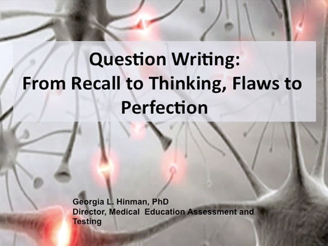 Picture from Question Writing: From Recall to Thinking, Flaws to Perfection video