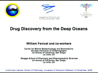 Picture from Drug Discovery from the Deep Oceans - C. Richard Hutchinson Lecture video