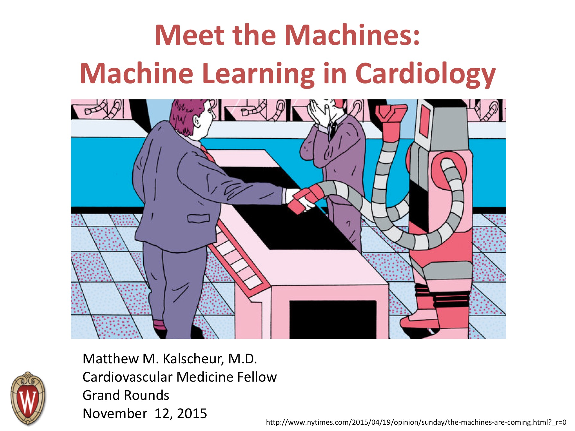 Picture from Meet the Machines: Machine Learning in Cardiology video