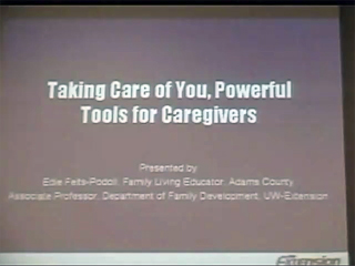Picture from Healthy Aging: Caregiving and Caregiving Resources for the Elderly video
