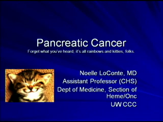 Picture from Pancreatic Cancer video