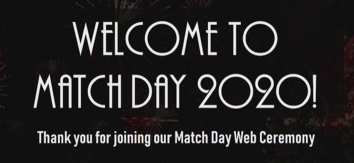 Picture from MATCH DAY 2020 Web Ceremony video