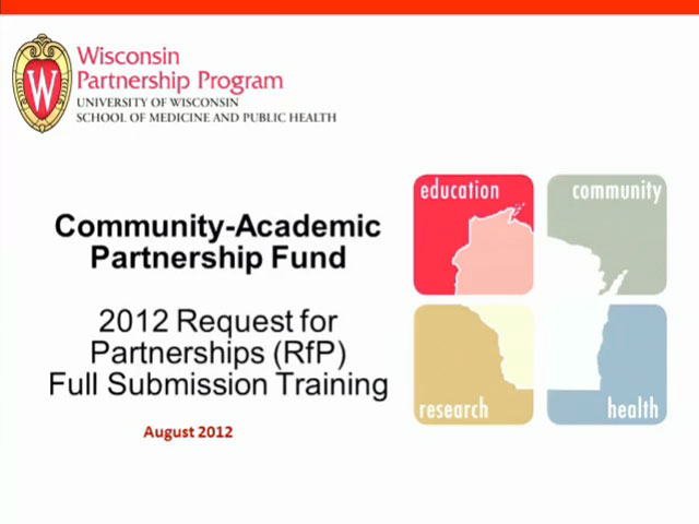 Picture from 2012 CAPF RfP Full Submission Training video