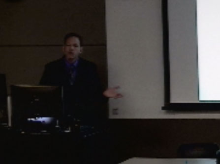 Picture from David Page - Chair of BMI Candidate Scientific Seminar video