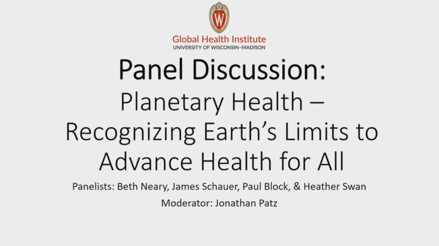 Picture from Planetary Health: Recognizing Earth's Limits to Advance Health for All video