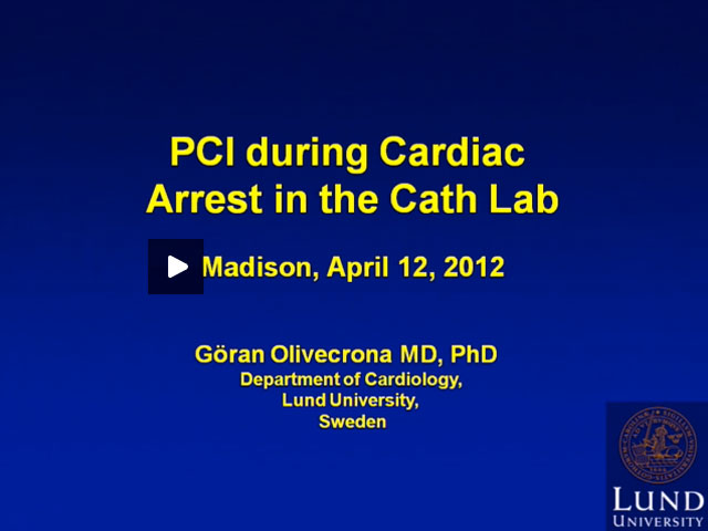 Picture from PCI During Cardiac Arrest video