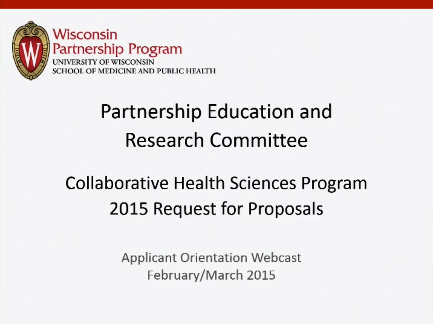 Picture from Partnership Education and Research Committee Collaborative Health Science Program 2015 Call for Proposals video