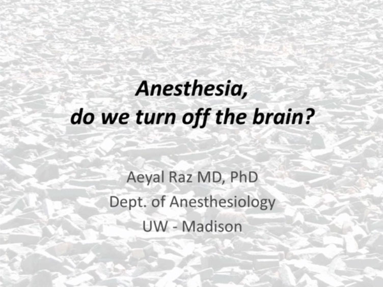 Picture from Anesthesia, do we turn off the brain? video