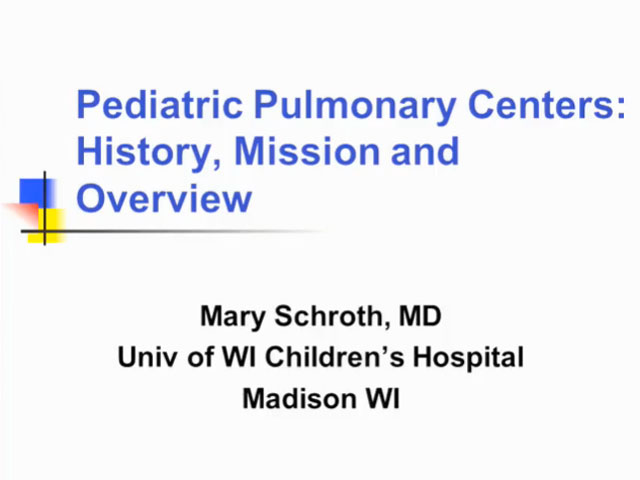 Picture from UW PPC Tutorial: Pediatric Pulmonary Centers: History, Mission and Overview video