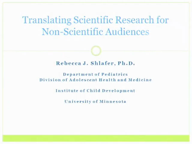 Picture from UW PPC Tutorial: Translating Scientific Research for Non-scientific Audiences video