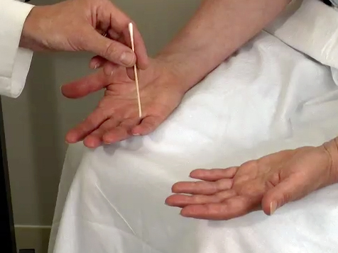 Picture from Physical Exam: Upper Extremity Advanced Sensory Exam video